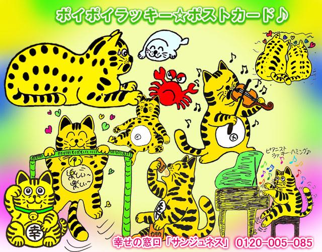ポイポイラッキー☆ポストカード
